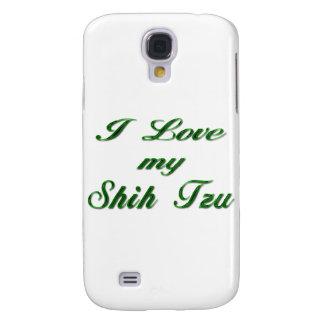 I Love my Shih Tzu green Samsung S4 Case