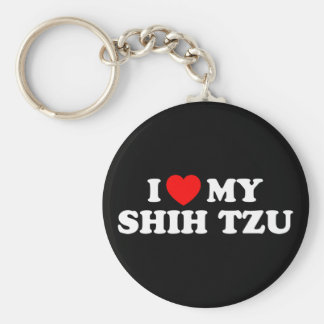 I Love my Shih Tzu Keychain