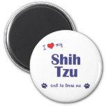 I Love My Shih Tzu (Male Dog) 2 Inch Round Magnet