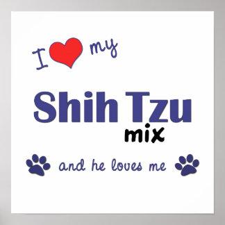 I Love My Shih Tzu Mix (Male Dog) Poster Print