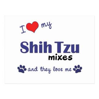 I Love My Shih Tzu Mixes (Multiple Dogs) Postcard