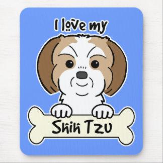 I Love My Shih Tzu Mouse Pad