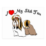 I Love My Shih Tzu Postcards