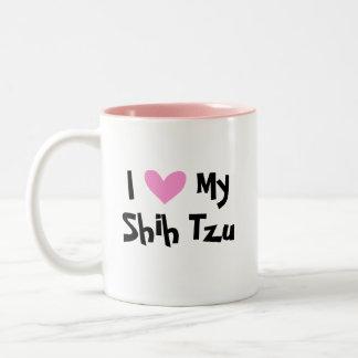 I Love My Shih Tzu puppy cut Mug