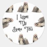 I Love My Shih Tzu Stickers
