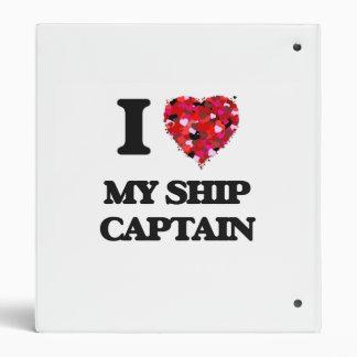 I Love My Ship Captain Vinyl Binders