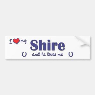 I Love My Shire (Male Horse) Bumper Sticker