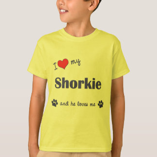I Love My Shorkie (Male Dog) T-Shirt