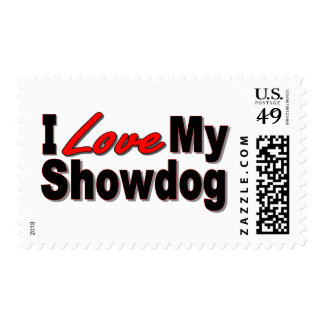 I Love My Show Dog Gifts and Apparel Stamps