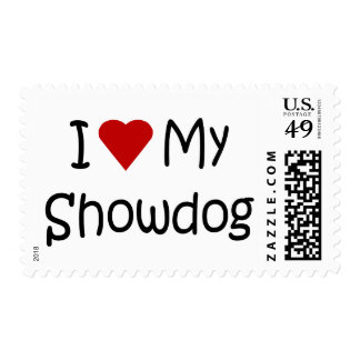 I Love My Showdog Dog Breed Lover Gifts Postage