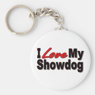 I Love My Showdog Keychain