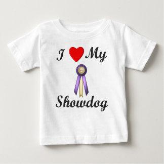 I Love My Showdog (Ribbon) Baby T-Shirt