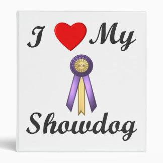 I Love My Showdog (Ribbon) Binder