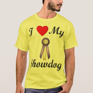 I Love My Showdog (Ribbon) T-Shirt