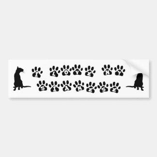 I Love My Siamese--Black Text Bumper Sticker