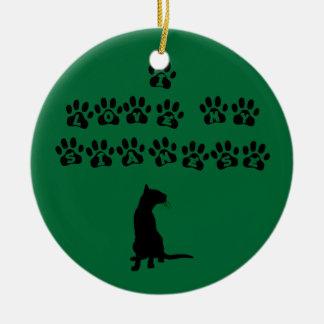 I Love My Siamese--Black Text Ceramic Ornament