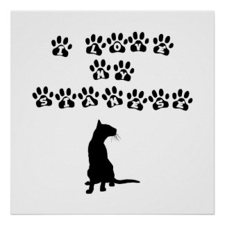 I Love My Siamese--Black Text Poster
