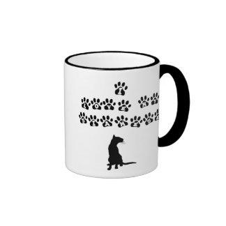 I Love My Siamese--Black Text Ringer Coffee Mug