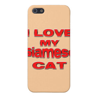 I LOVE MY SIAMESE CAT iPhone SE/5/5s COVER