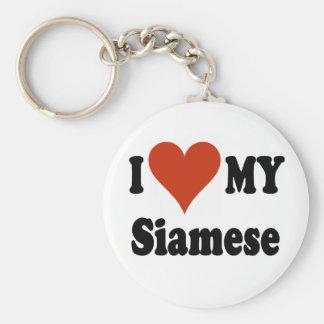 I Love My Siamese Cat Merchandise Keychain