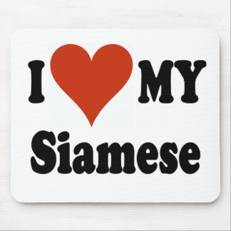 I Love My Siamese Cat Merchandise Mouse Pad