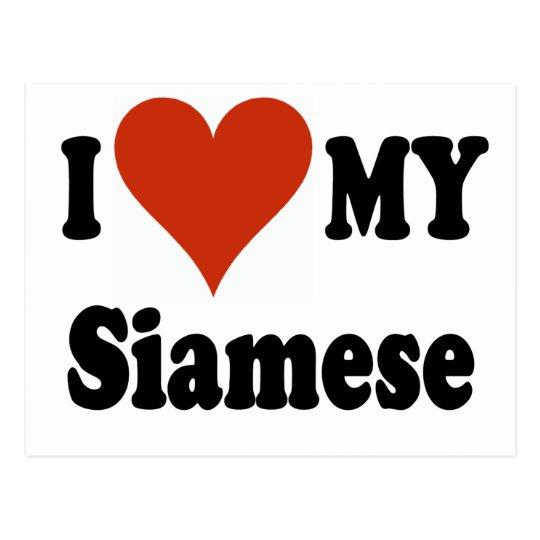 I Love My Siamese Cat Merchandise Postcard