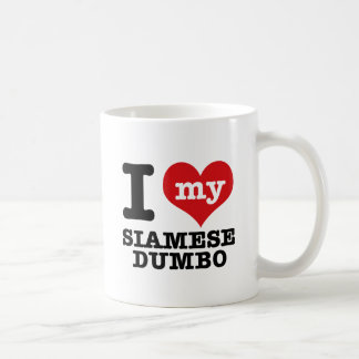 I Love my siamese dumbo Classic White Coffee Mug