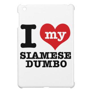 I Love my siamese dumbo iPad Mini Covers