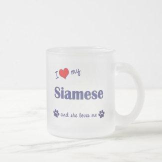 I Love My Siamese (Female Cat) 10 Oz Frosted Glass Coffee Mug