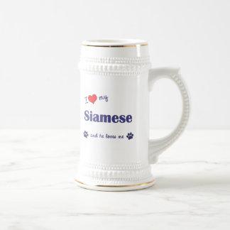 I Love My Siamese (Male Cat) 18 Oz Beer Stein