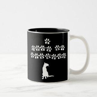 I Love My Siamese--White Text Two-Tone Coffee Mug