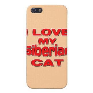 I LOVE MY SIBERIAN CAT iPhone SE/5/5s CASE
