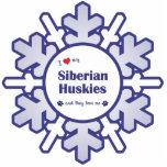 I Love My Siberian Huskies (Multiple Dogs) Photo Sculptures