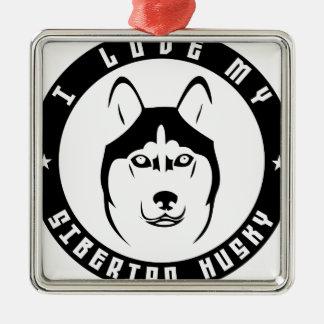 I LOVE MY SIBERIAN HUSKY Dog breed pet Ornaments