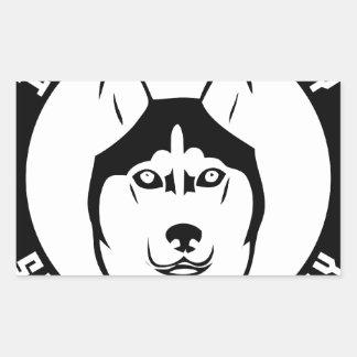 I LOVE MY SIBERIAN HUSKY Dog breed pet Rectangular Sticker