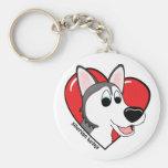 I Love my Siberian Husky Keychain