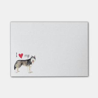 I Love my Siberian Husky Post-it® Notes