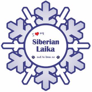 I Love My Siberian Laika (Male Dog) Cutout