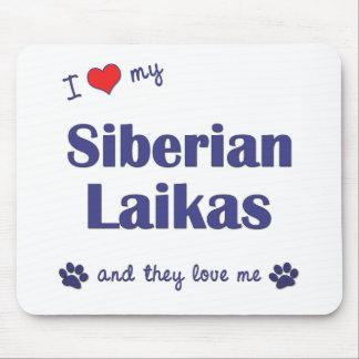 I Love My Siberian Laikas (Multiple Dogs) Mouse Pad