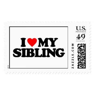 I LOVE MY SIBLING POSTAGE