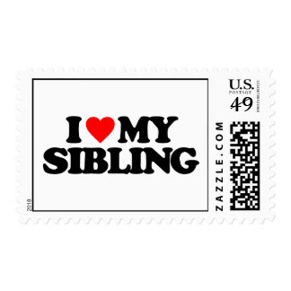 I LOVE MY SIBLING POSTAGE STAMP