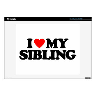 I LOVE MY SIBLING LAPTOP DECAL