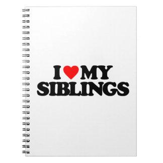 I LOVE MY SIBLINGS SPIRAL NOTE BOOK
