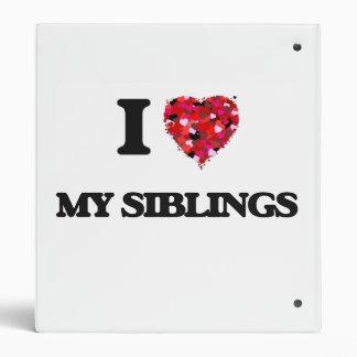 I Love My Siblings Vinyl Binder