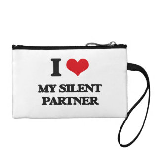 I Love My Silent Partner Change Purse