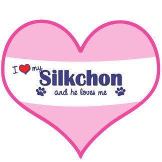 I Love My Silkchon (Male Dog) Cutout