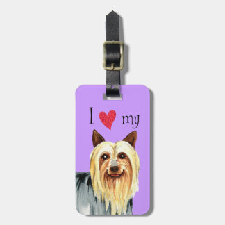 I Love my Silky Terrier Bag Tag