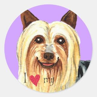 I Love my Silky Terrier Classic Round Sticker