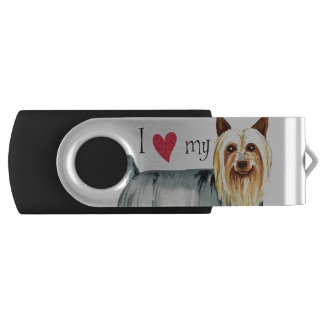 I Love my Silky Terrier Flash Drive