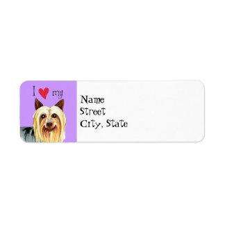 I Love my Silky Terrier Return Address Label